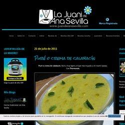 Puré o crema de calabacín Blog de recetas sencillas y económicas con Thermomix y Olla GM La Juani de Ana Sevilla