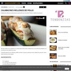 Calabacines rellenos de pollo - SaborGourmet.com