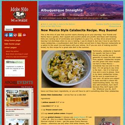 New Mexico Style Calabacitas Recipe