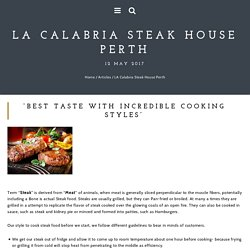LA Calabria Steak House Perth