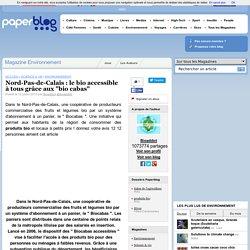 """PAPERBLOG 12/07/12 Nord-Pas-de-Calais : le bio accessible à tous grâce aux """"bio cabas"""""""