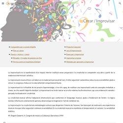 CALAIX DE MÚSIC - IMPROVISAR / CREAR