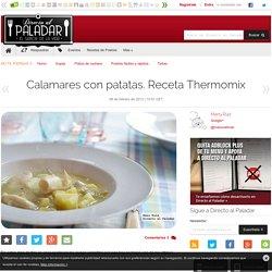 Calamares con patatas. Receta Thermomix