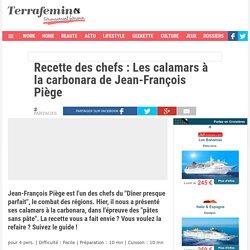 Recette des chefs : Les calamars à la carbonara de Jean-François Piège