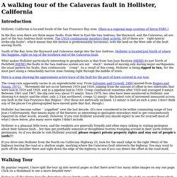 Fault creep along the Calaveras in Hollister, California