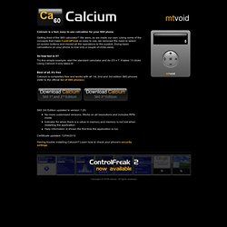 Calcium - Fast free calculator for S60