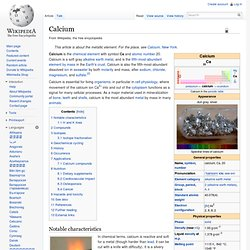 WIKIPEDIA ANGLOPHONE – Calcium.