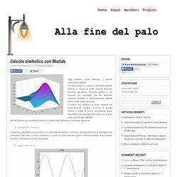 Calcolo simbolico con Matlab - Alla fine del paloAlla fine del palo