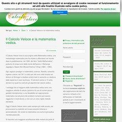 Il Calcolo Veloce e la matematica vedica.