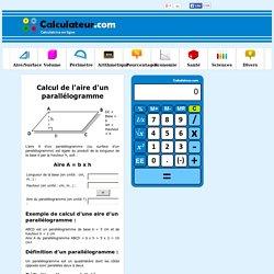 Calcul de l'aire d'un parallélogramme