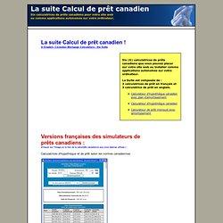 Calcul de prêt canadien avec plan d'amortissement