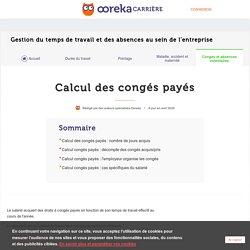 Calcul des congés payés : solde - Ooreka