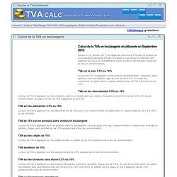 Calcul de la TVA en boulangerie