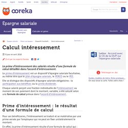 Calcul intéressement salarié : calcul - Ooreka