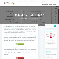 Calcul mental : défi CE