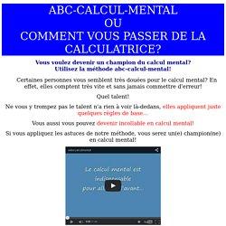 abc-calcul-mental: les bonnes techniques