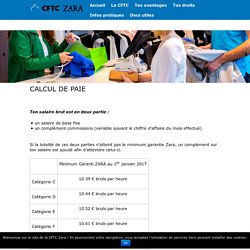 Calcul de paie - CFTC-ZARA