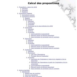 Calcul des propositions