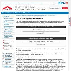 Calcul des rapports ABD et ATD