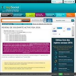 Calcul RSA revenu de solidarité active 2016 2015 2014 2013 2012 2011
