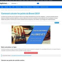 Calcul de points au Brevet 2019 - Simulateur Moyenne Brevet