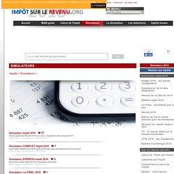 Calcul et simulation en ligne de l'impôt 2016 (gratuit)