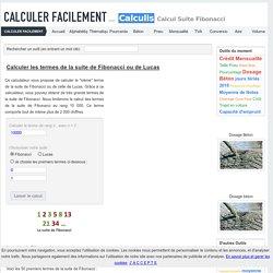 Calcul des termes de la suite de Fibonacci en ligne