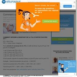 Calcul de la TVA : Comment calculer la TVA, Exemple de calcul de TVA