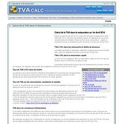 Calcul de la TVA dans la Restauration