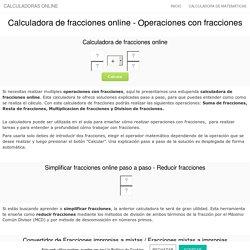 Calculadora de fracciones paso a paso - Operaciones con fracciones