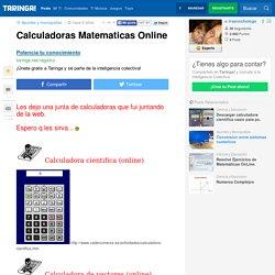 Calculadoras Matematicas Online