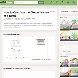How to Calculate the Circumference of a Circle (with Examples)