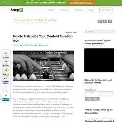 How to Calculate Your Content Curation ROI