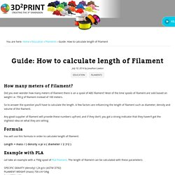 Guide: How to calculate length of Filament - 3D Printer Filament