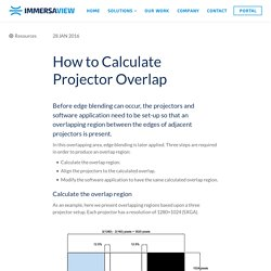 How to Calculate Multi-Projector Overlap