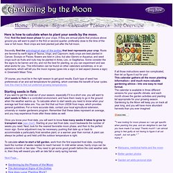 How to Calculate Lunar Planting Dates