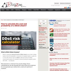 How to calculate the cost and probability of a DDoS attack?