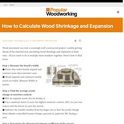How to Calculate Wood Shrinkage and Expansion