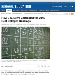 How U.S. News Calculated the 2015 Best Colleges Rankings