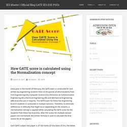 How GATE score is calculated using the Normalisation concept – IES Master