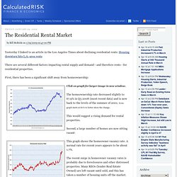 The Residential Rental Market