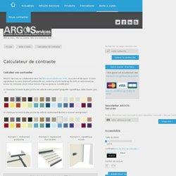 Calculateur de contraste – ARGOS-Services – Accessibilité des bâtiments, de la voirie et des transports