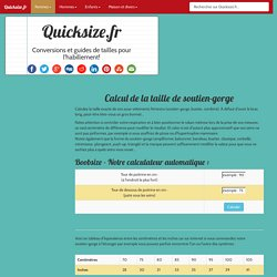 Tailles Soutien Gorges : Notre calculateur automatique online !