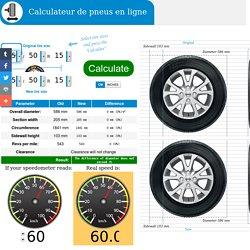 Calculateur de pneus en ligne - pneus calculatrice visuels.