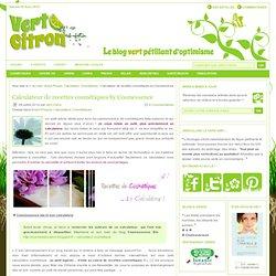 Calculateur de recettes cosmétiques by Cosmessence : Vert-Citron