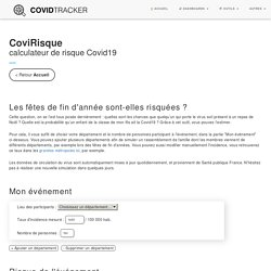 Calculateur de risque Covid19 - CovidTracker