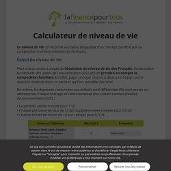 Calculateur de niveau de vie