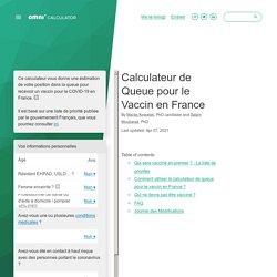 Calculateur Queue Vaccin France
