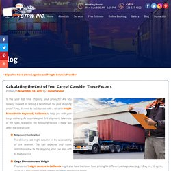 Calculating the Cost of Your Cargo? Consider These Factors
