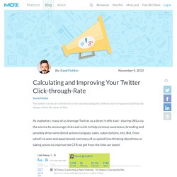 Calculating and Improving Your Twitter Click-through-Rate
